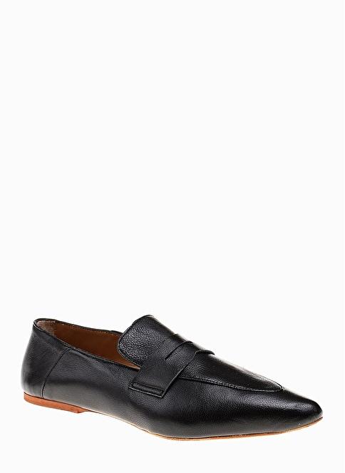 Divarese Hakiki Deri Loafer Ayakkabı Siyah